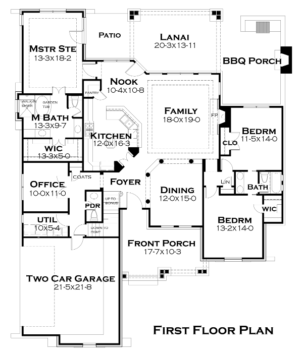 First Floor Plan image of Lado del Rio House Plan