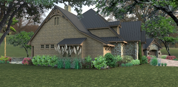 Rendering - Left by DFD House Plans