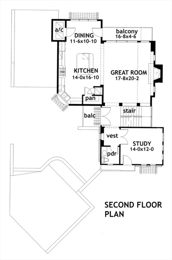 Second Floor Plan by DFD House Plans