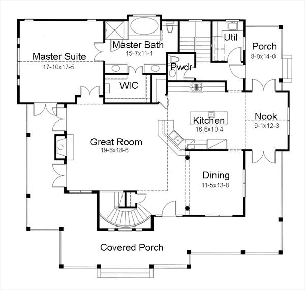 Country house plan with 3 bedrooms and 2 5 baths plan 7401 for Dfd house plans 1897