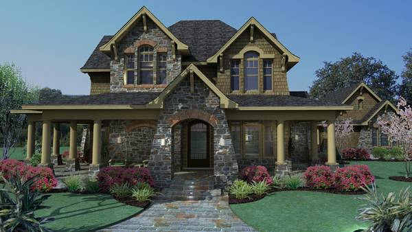 Rendering - Front image of Vida Carinosa House Plan