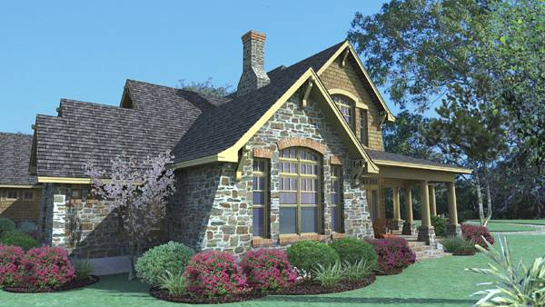 Left Elevation image of Vida Carinosa House Plan