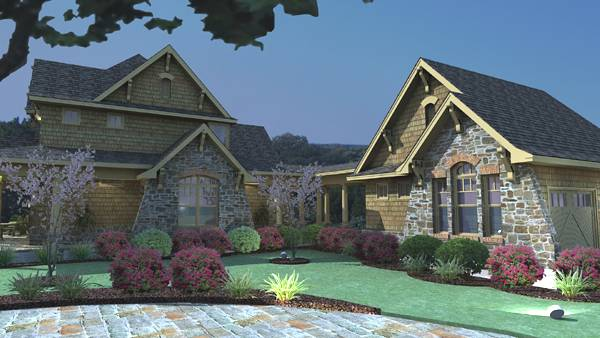 Rendering - Right image of Vida Carinosa House Plan