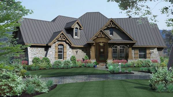 Craftsman House Plan with 3 Bedrooms and 35 Baths Plan 2297