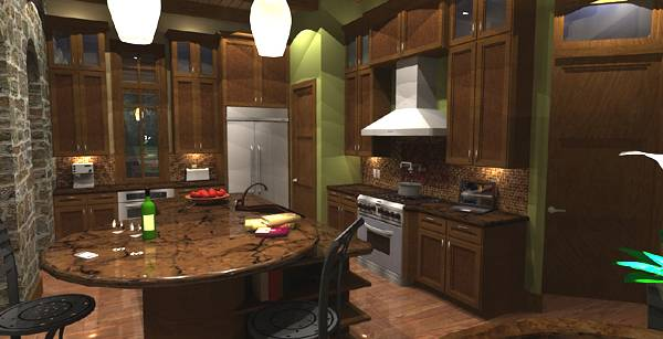 Interiors - Nook to Kitchen by DFD House Plans