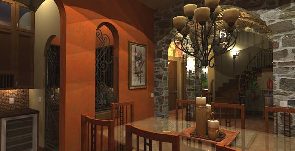 Interiors - Dining to Foyer by DFD House Plans