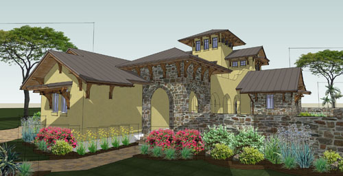 Front Rendering image of Viva per Sempre House Plan