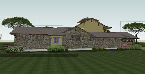 Rear Rendering image of Viva per Sempre House Plan