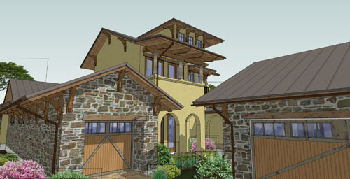 Garage View image of Viva per Sempre House Plan
