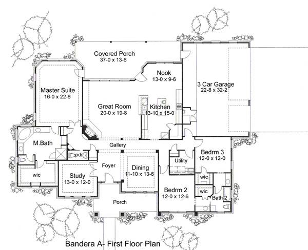 Alternate Floor Plan A by DFD House Plans