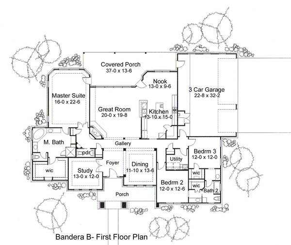 Alternate Floor Plan B by DFD House Plans