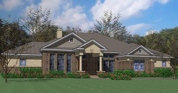 Rendering - Front by DFD House Plans