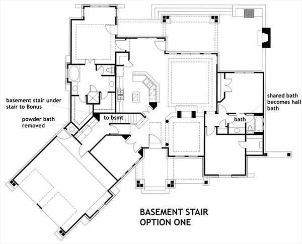 Basement Stair Option One image of L'Attesa Di Vita II House Plan