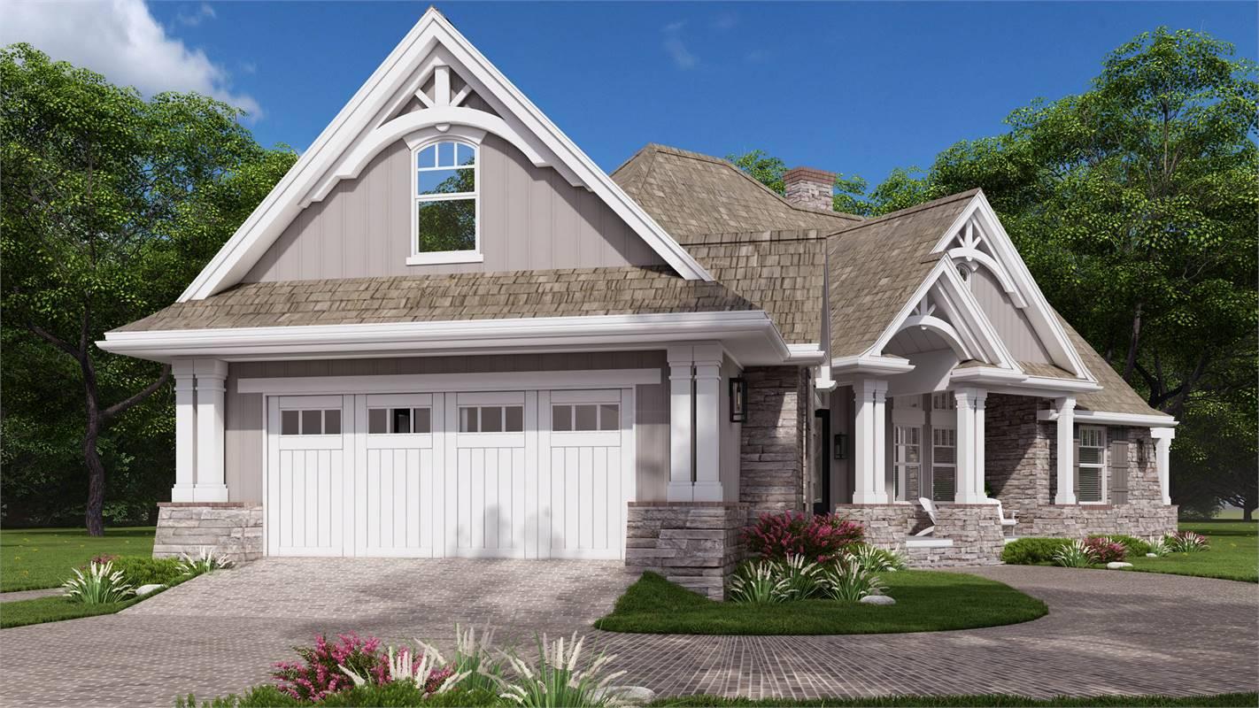Left View Featuring Clopay® Garage Doors image of L'Attesa Di Vita II House Plan