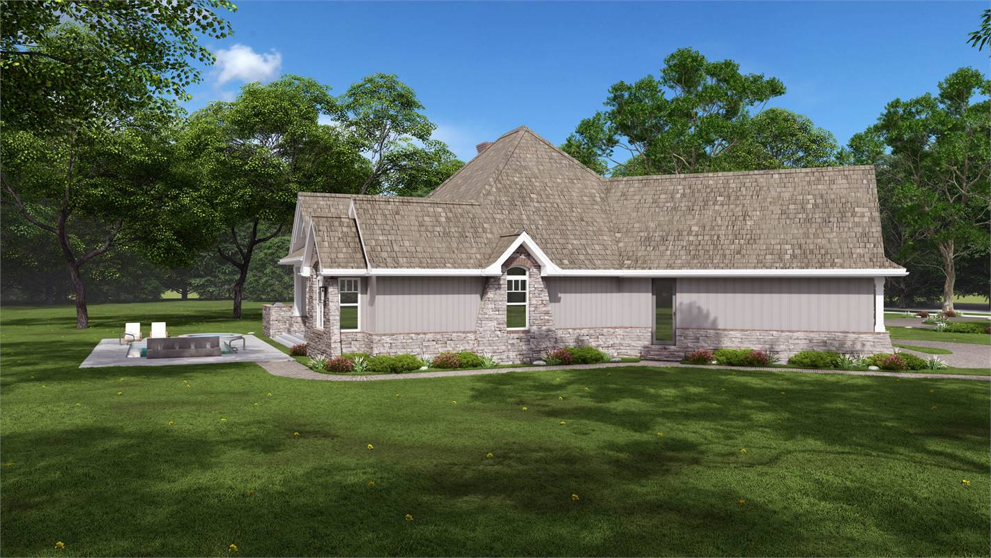 Right View Featuring MASTIC Lap Siding by Ply Gem® image of L'Attesa Di Vita II House Plan