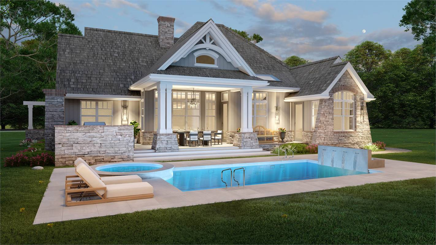 Outdoor Living Space image of L'Attesa Di Vita II House Plan