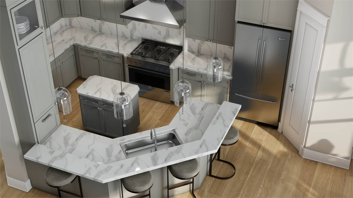 Luxurious Kitchen Featuring JennAir® Appliances image of L'Attesa Di Vita II House Plan