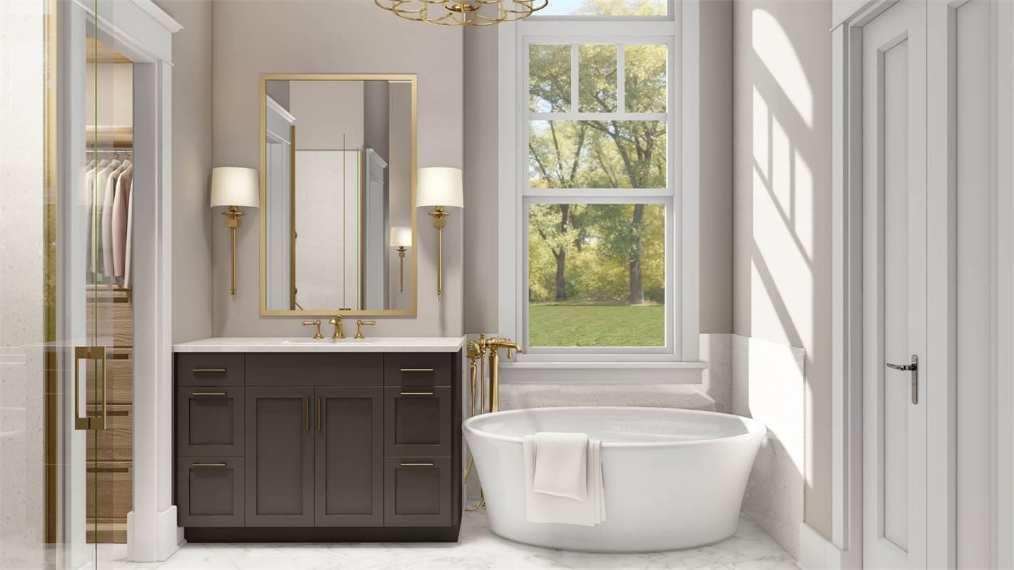 Master Bath Complete with Freestanding Soaking Tub image of L'Attesa Di Vita II House Plan