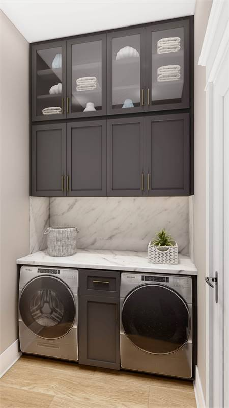 Laundry Room Featuring Whirlpool® Washer & Dryer image of L'Attesa Di Vita II House Plan