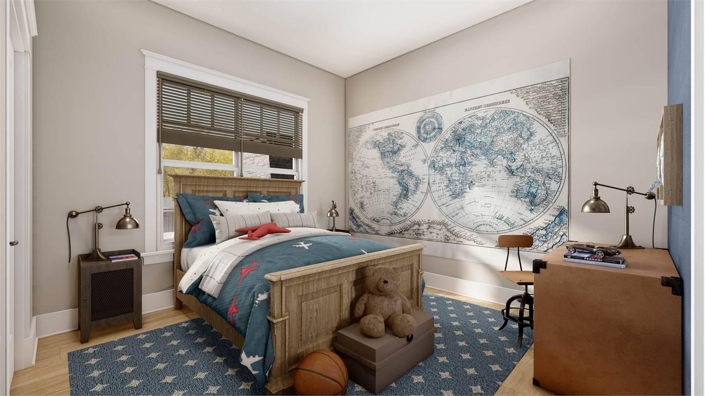 Rear Bedroom image of L'Attesa Di Vita II House Plan