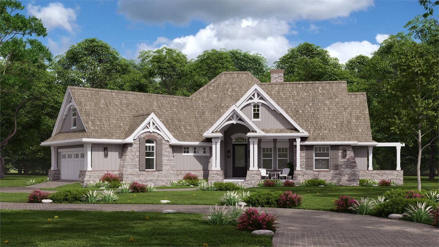 Featuring MASTIC Lap Siding by Ply Gem® and Therma-Tru® Entry Door image of L'Attesa Di Vita II House Plan