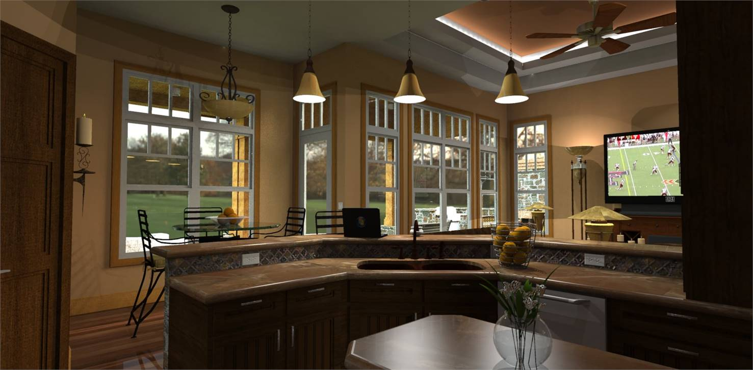Kitchen image of L'Attesa di Vita House Plan