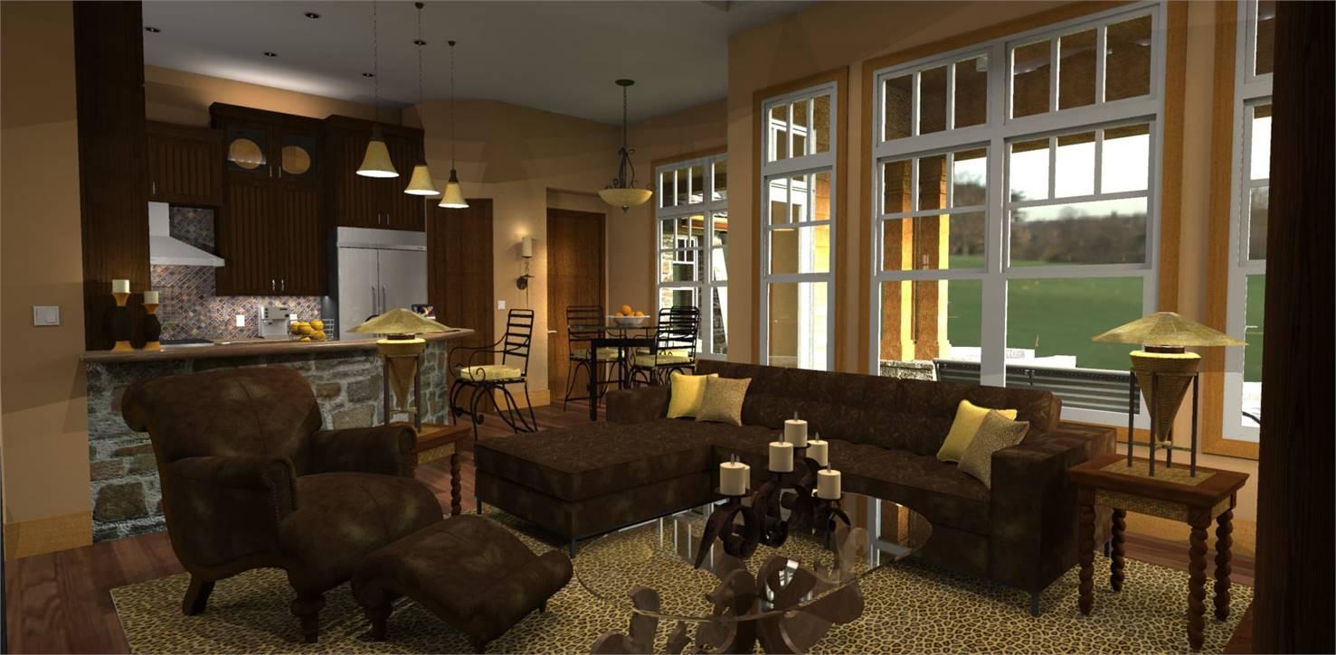 Living Room image of L'Attesa di Vita House Plan