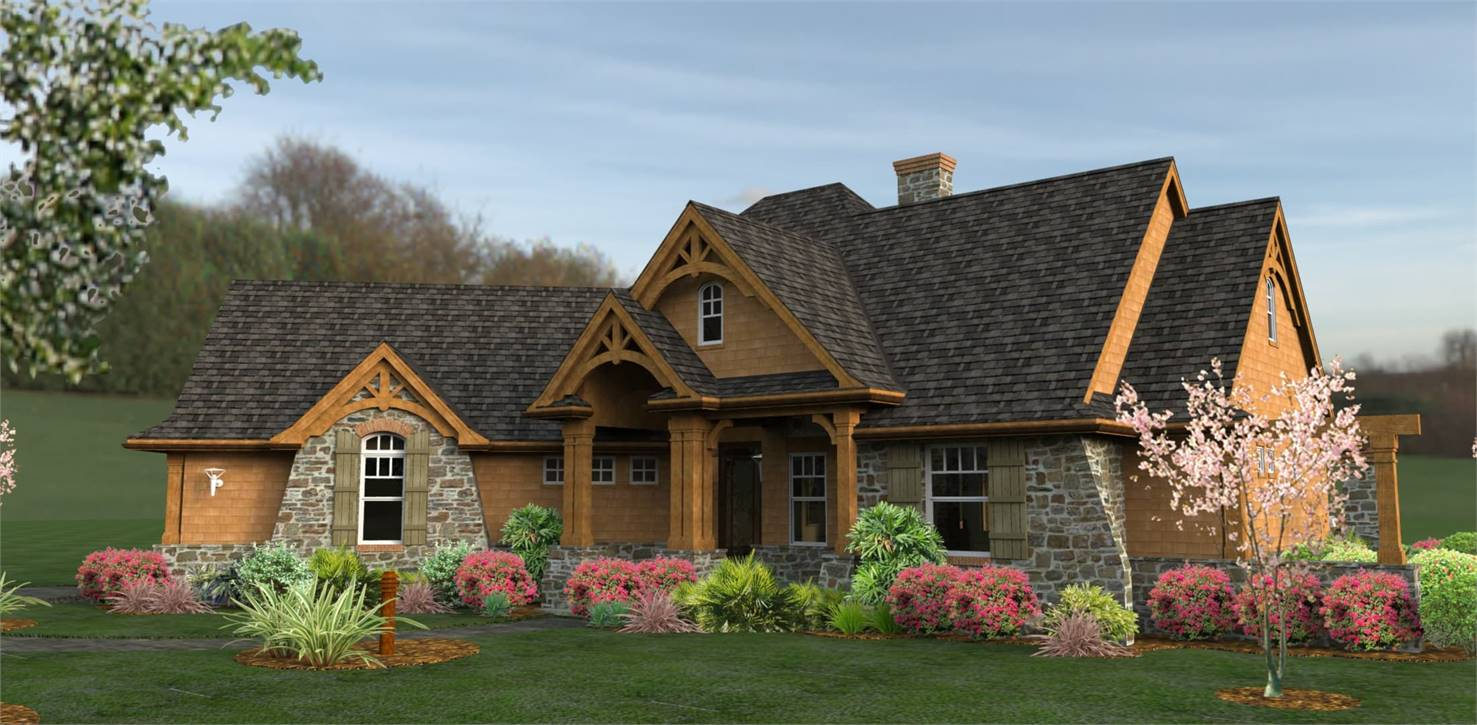 Front View image of L'Attesa di Vita House Plan