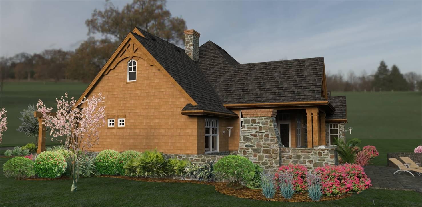 Right View image of L'Attesa di Vita House Plan