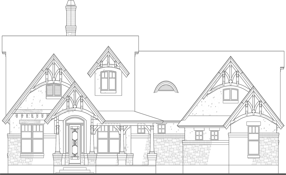 Front Elevation image of Merveille Vivante Small House Plan
