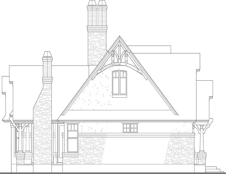 Left Elevation image of Merveille Vivante Small House Plan