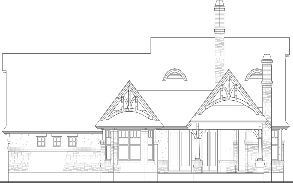 Rear Elevation image of Merveille Vivante Small House Plan