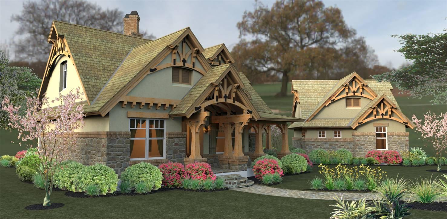 Front View image of Merveille Vivante Small House Plan