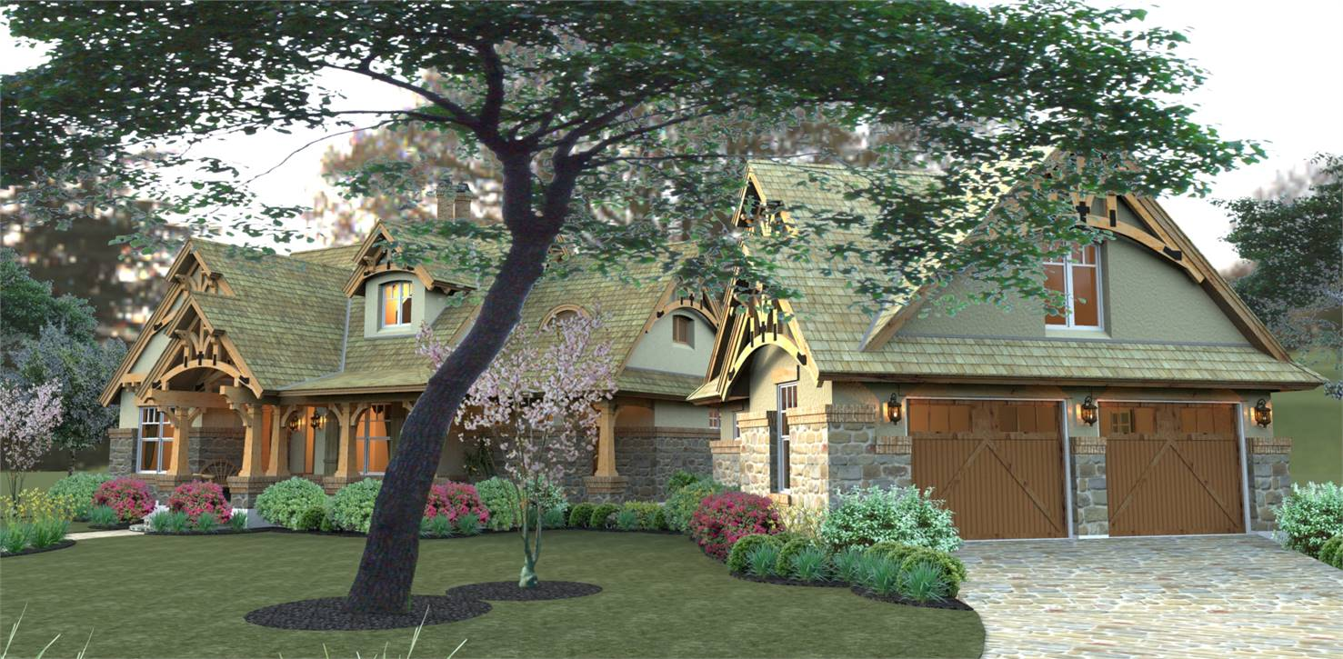 Right View image of Merveille Vivante Small House Plan