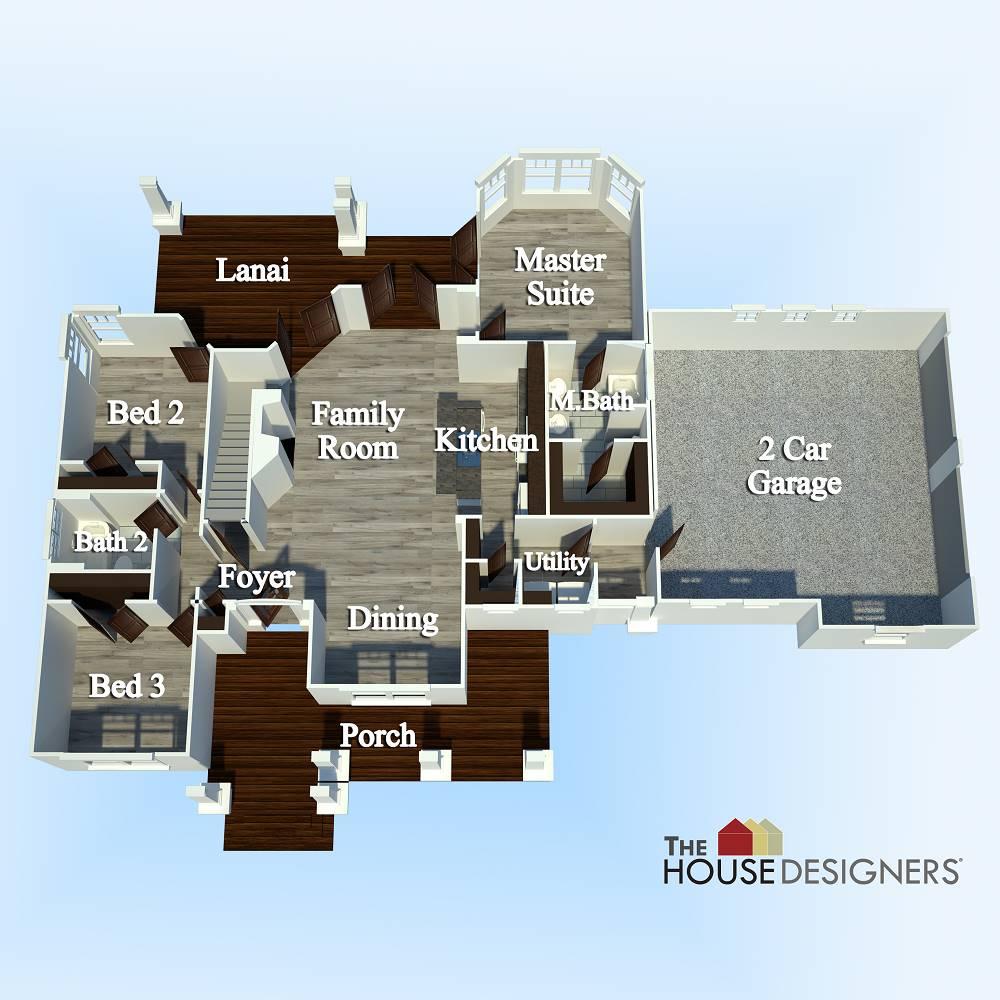 First Floor Plan image of Merveille Vivante Small House Plan