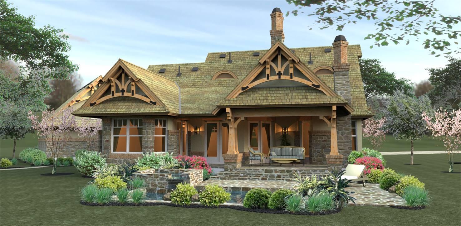 Rear View image of Merveille Vivante Small House Plan
