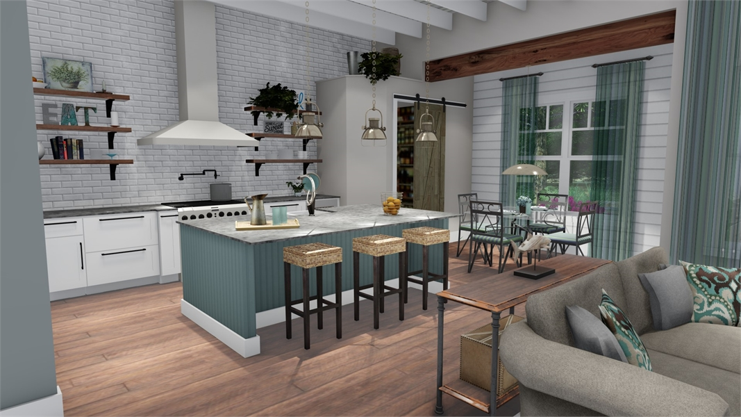 Interiors - Dining to Kitchen by DFD House Plans