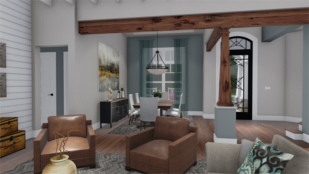 Interiors - Family to Dining by DFD House Plans