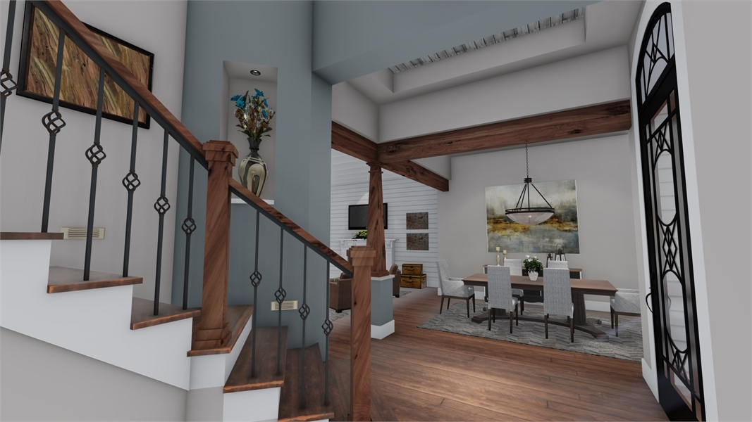 Interiors - Study to Dining by DFD House Plans