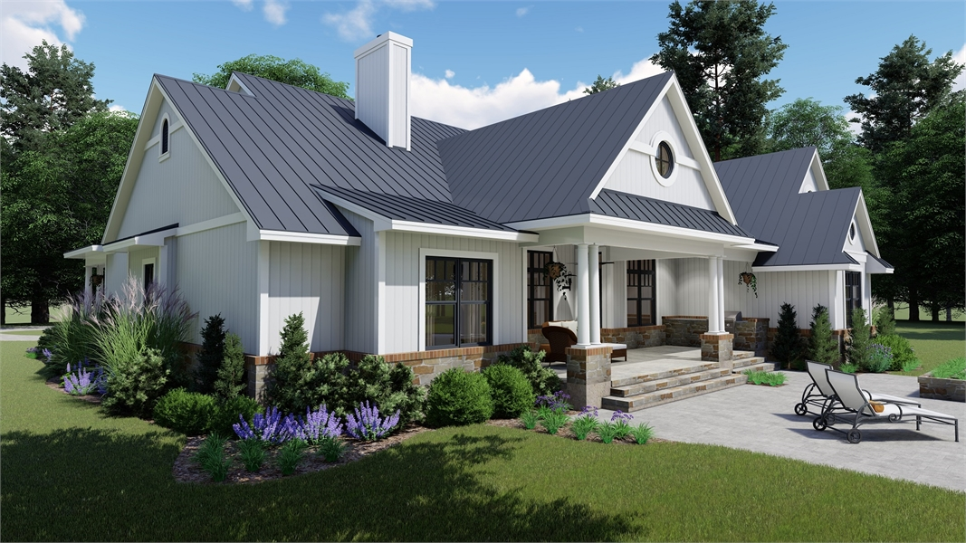 Rear Porch by DFD House Plans