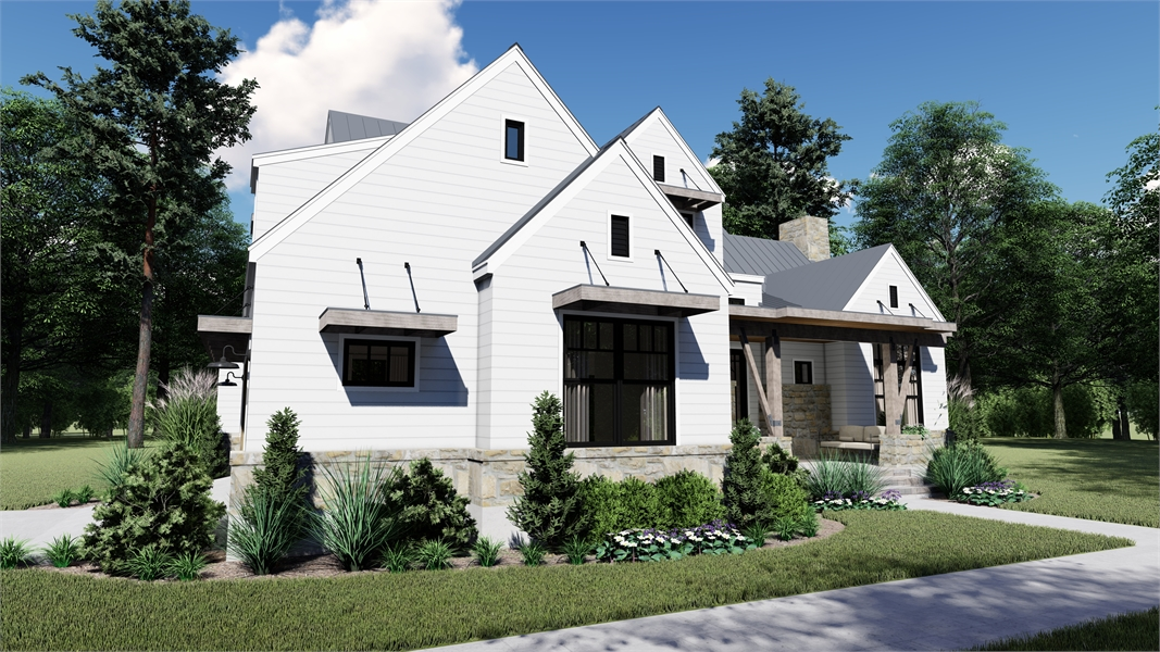 Side Photo image of Rolling Wood Hills House Plan