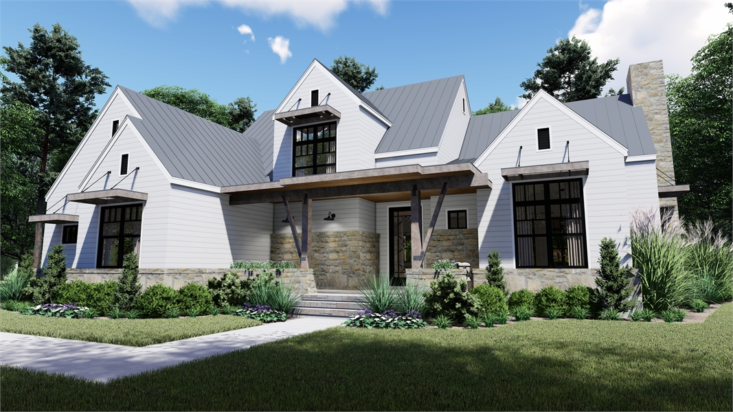 Front Photo image of Rolling Wood Hills House Plan