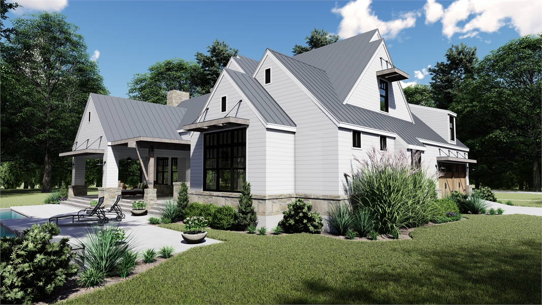 Side Elevation image of Rolling Wood Hills House Plan