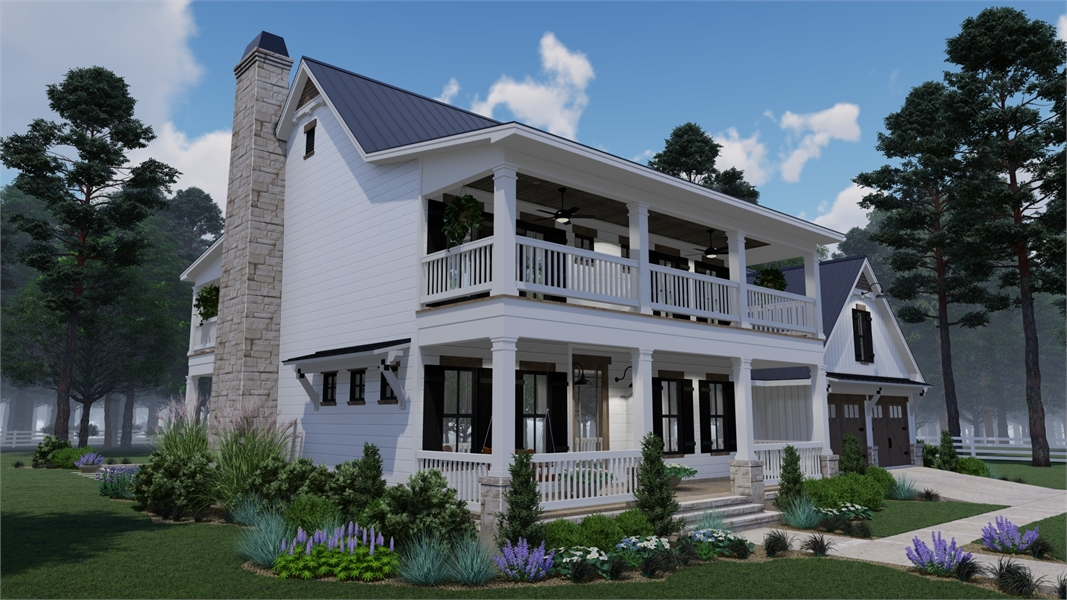Front Left by DFD House Plans