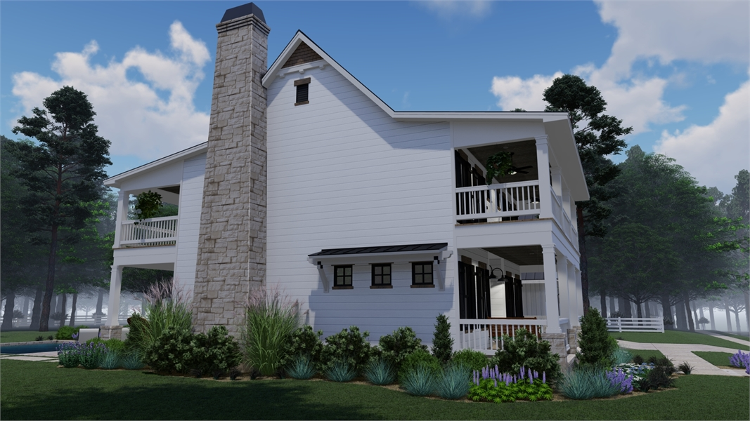 Rendering - Right by DFD House Plans