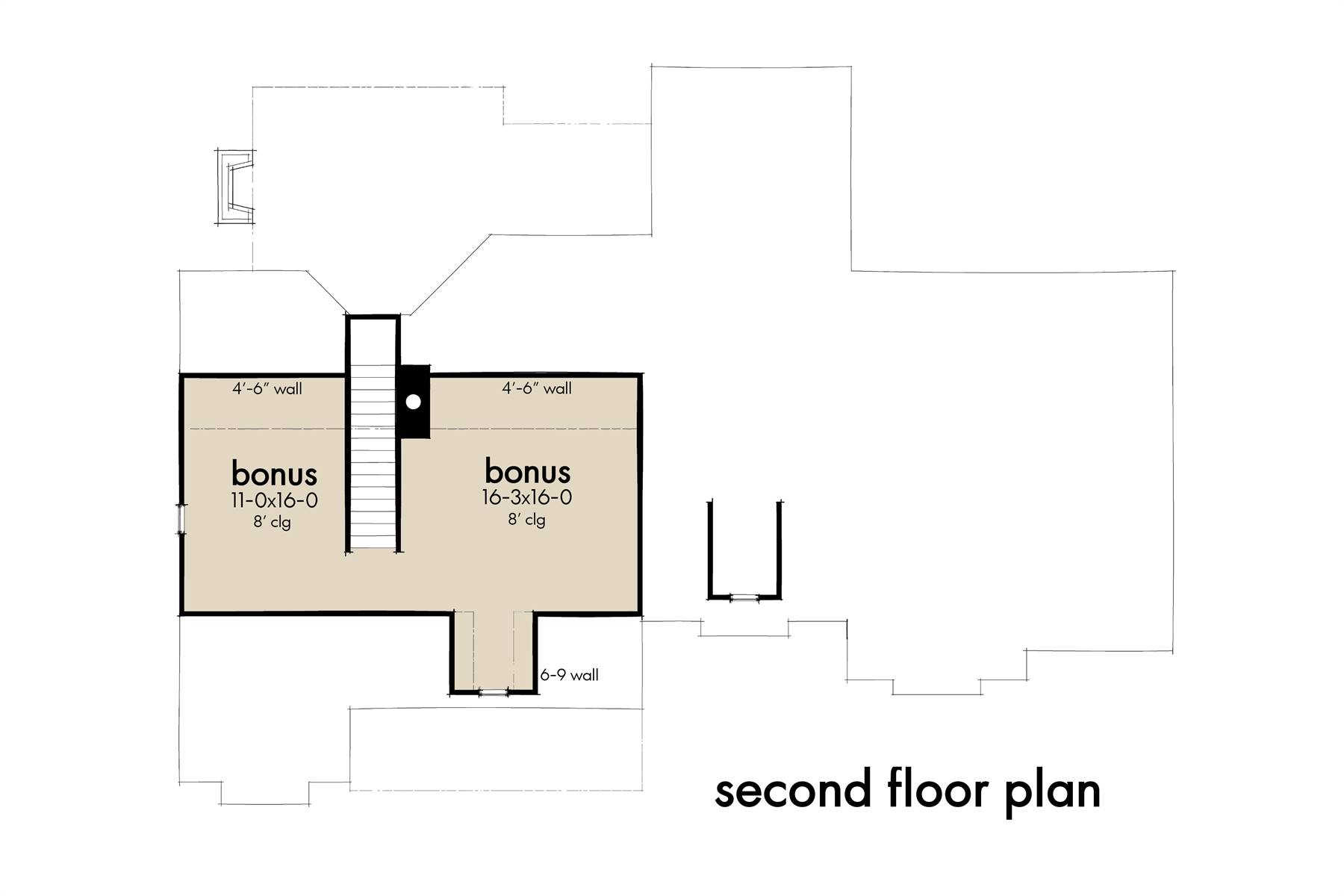 Second Floor Plan image of High Meadow Cabin House Plan