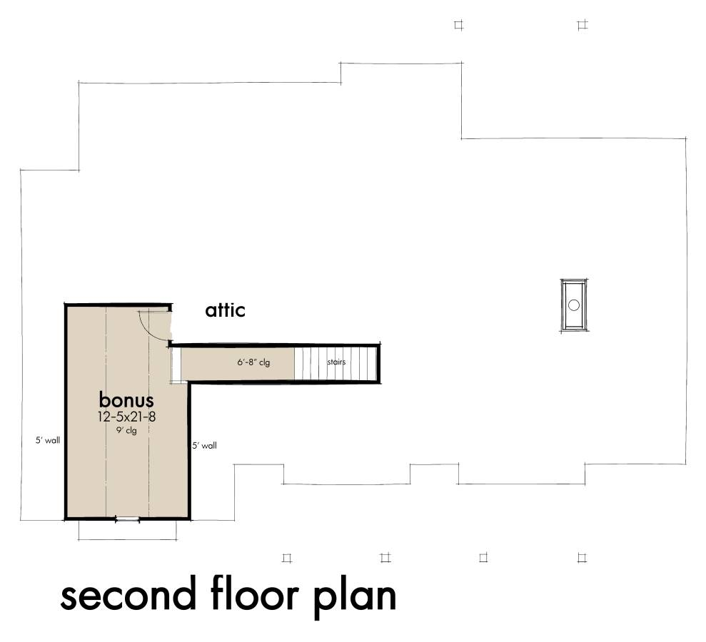Bonus Floor Plan by DFD House Plans