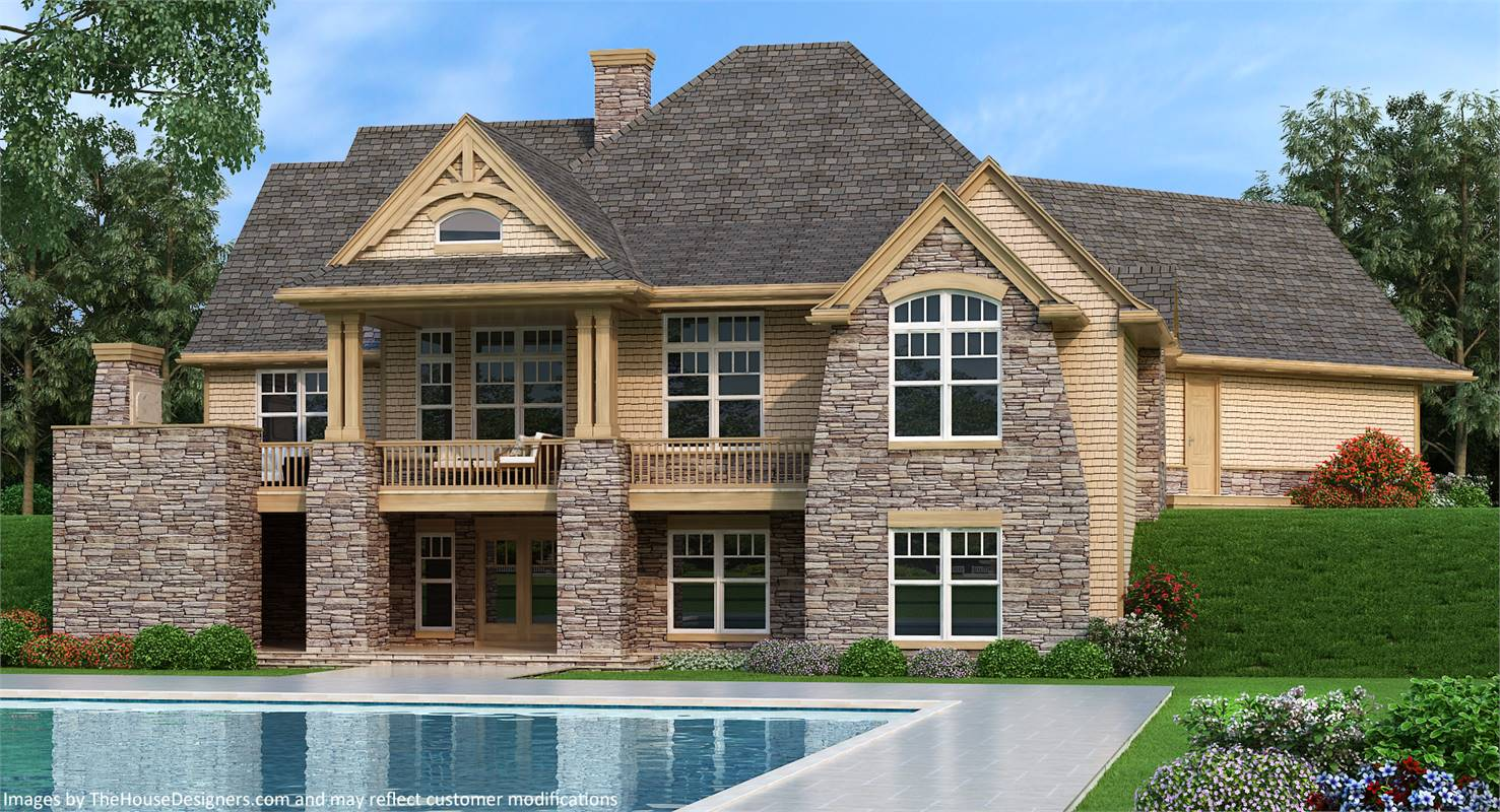Rear View image of Vita di Lusso House Plan