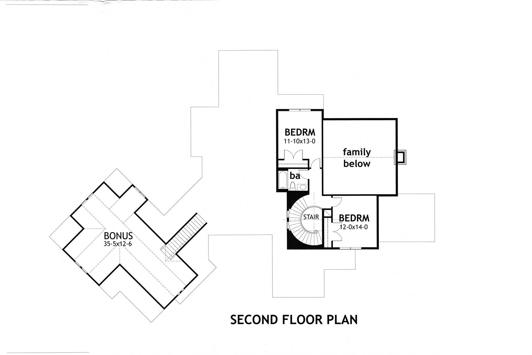2nd Floor image of Crystal Falls House Plan