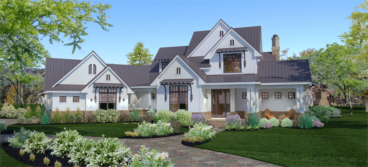 Front View image of Crystal Falls House Plan